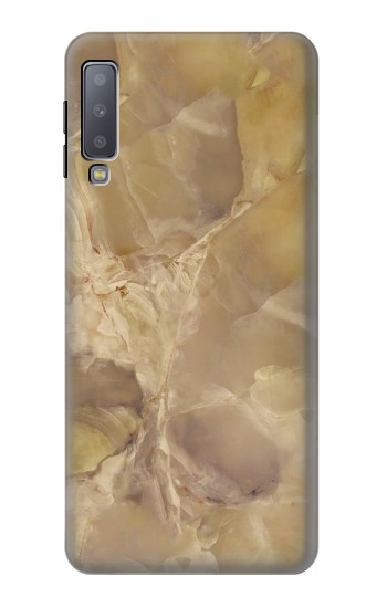 Printed Yellow Marble Stone Samsung Galaxy A7 (2018) Case