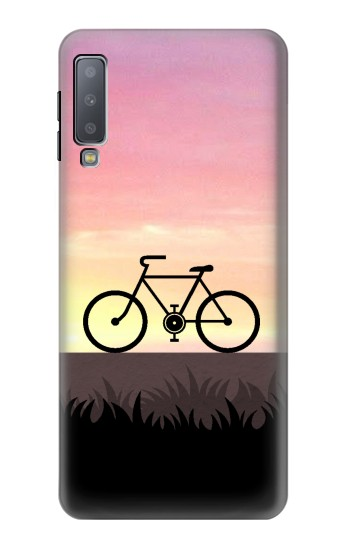 Printed Bicycle Sunset Samsung Galaxy A7 (2018) Case