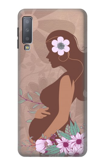 Printed Pregnant Mommy Baby Samsung Galaxy A7 (2018) Case