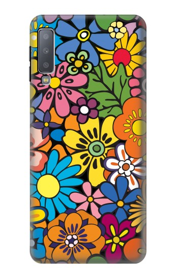 Printed Colorful Flowers Pattern Samsung Galaxy A7 (2018) Case