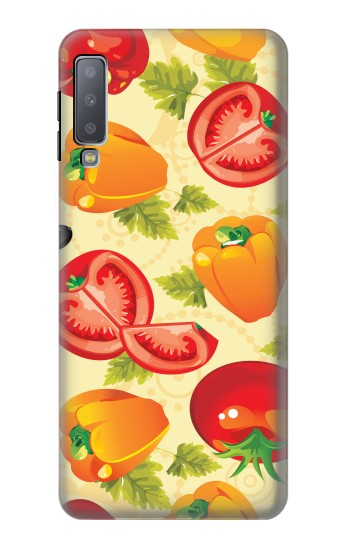 Printed Seamless Food Vegetable Samsung Galaxy A7 (2018) Case