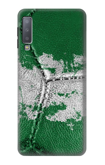 Printed Nigeria Flag Vintage Football 2018 Samsung Galaxy A7 (2018) Case