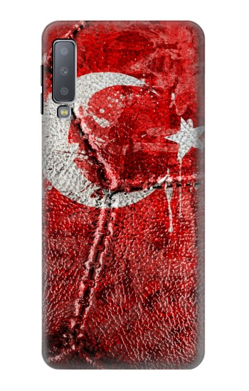 Printed Turkey Flag Vintage Football 2018 Samsung Galaxy A7 (2018) Case