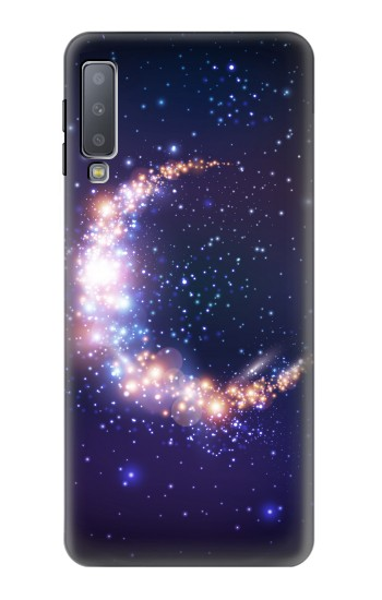Printed Crescent Moon Galaxy Samsung Galaxy A7 (2018) Case