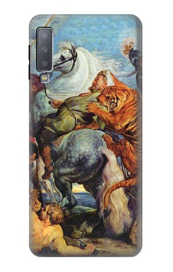 Printed Peter Paul Rubens Tiger und Lowenjagd Samsung Galaxy A7 (2018) Case