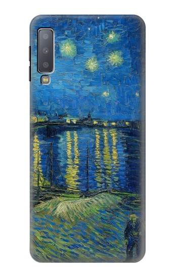 Printed Van Gogh Starry Night Over Rhone Samsung Galaxy A7 (2018) Case