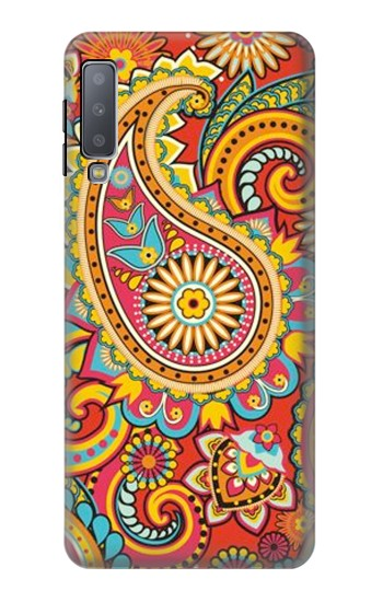 Printed Floral Paisley Pattern Seamless Samsung Galaxy A7 (2018) Case