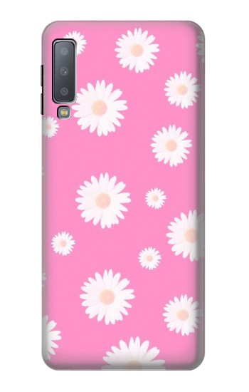 Printed Pink Floral Pattern Samsung Galaxy A7 (2018) Case