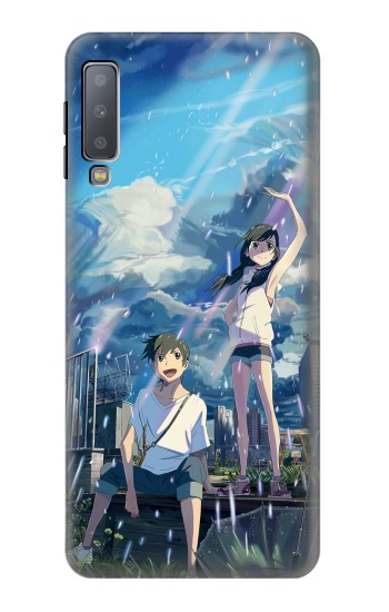 Printed Weathering With You Tenki No Ko Samsung Galaxy A7 (2018) Case