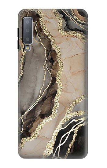 Printed Marble Gold Graphic Printed Samsung Galaxy A7 (2018) Case