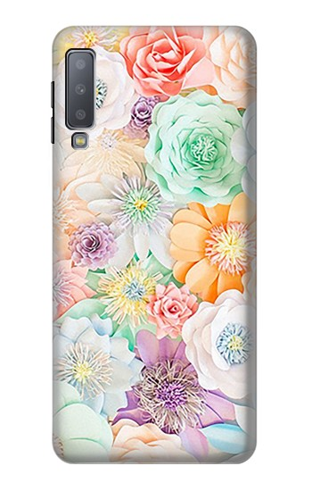 Printed Pastel Floral Flower Samsung Galaxy A7 (2018) Case