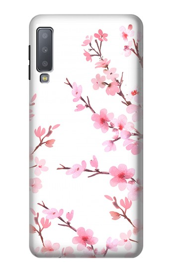 Printed Pink Cherry Blossom Spring Flower Samsung Galaxy A7 (2018) Case
