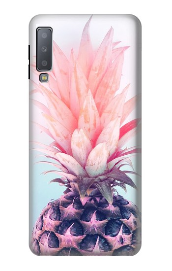 Printed Pink Pineapple Samsung Galaxy A7 (2018) Case