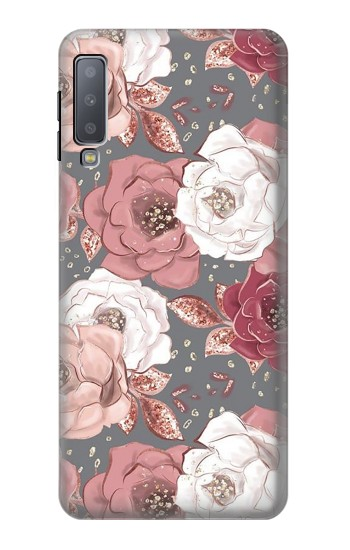 Printed Rose Floral Pattern Samsung Galaxy A7 (2018) Case