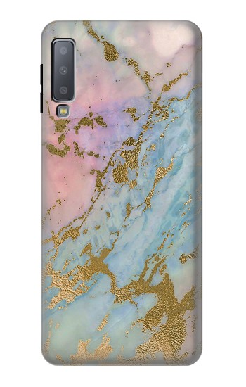 Printed Rose Gold Blue Pastel Marble Graphic Printed Samsung Galaxy A7 (2018) Case