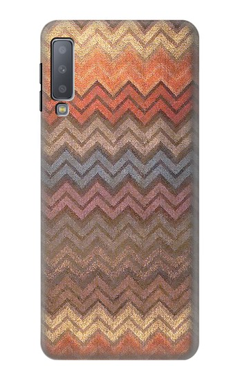 Printed Zigzag Fabric Pattern Graphic Printed Samsung Galaxy A7 (2018) Case