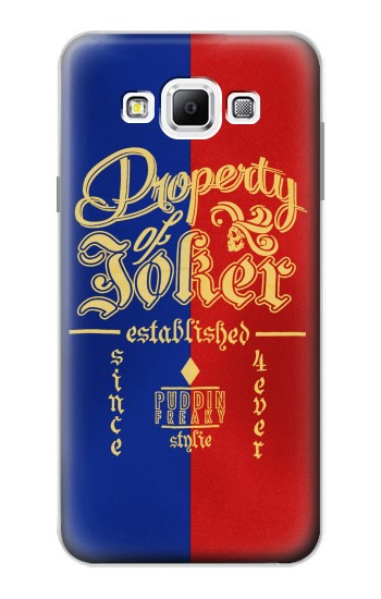 Printed Property of Joker Puddin Freaky Style Samsung Galaxy A7, A7 Duos Case