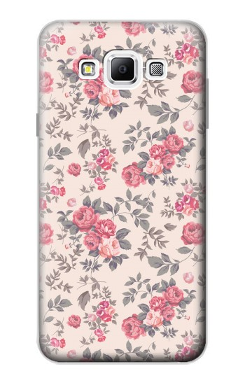 Printed Vintage Rose Pattern Samsung Galaxy A7, A7 Duos Case