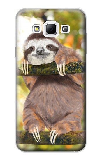 Printed Cute Baby Sloth Paint Samsung Galaxy A7, A7 Duos Case