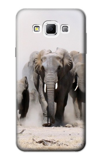 Printed African Elephant Samsung Galaxy A7, A7 Duos Case