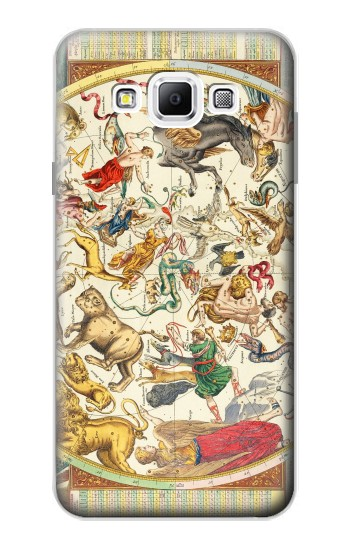 Printed Antique Constellation Map Samsung Galaxy A7, A7 Duos Case