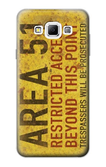 Printed Area 51 Restricted Access Warning Sign Samsung Galaxy A7, A7 Duos Case