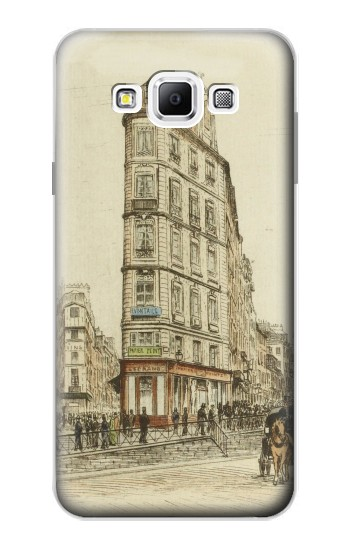 Printed Boulevards of Paris Samsung Galaxy A7, A7 Duos Case
