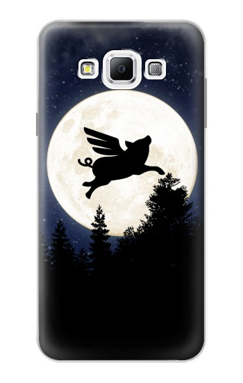Printed Flying Pig Full Moon Night Samsung Galaxy A7, A7 Duos Case