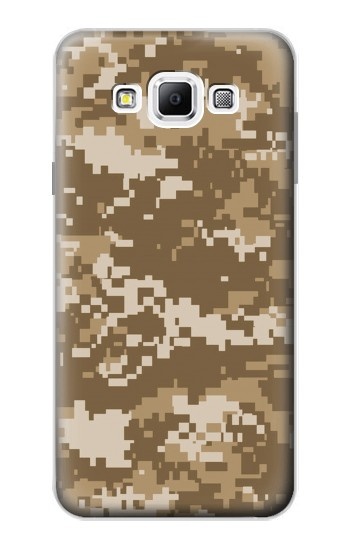 Printed Army Camo Tan Samsung Galaxy A7, A7 Duos Case