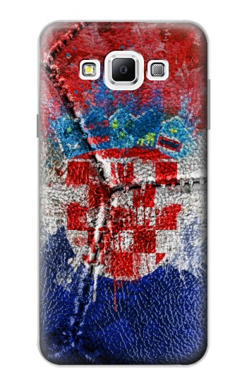 Printed Croatia Flag Vintage Football 2018 Samsung Galaxy A7, A7 Duos Case