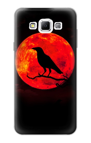 Printed Crow Red Moon Samsung Galaxy A7, A7 Duos Case
