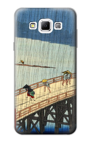 Printed Utagawa Hiroshige Sudden shower over Shin Oashi bridge and Atake Samsung Galaxy A7, A7 Duos Case