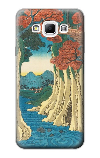 Printed Utagawa Hiroshige The Monkey Bridge in Kai Province Samsung Galaxy A7, A7 Duos Case