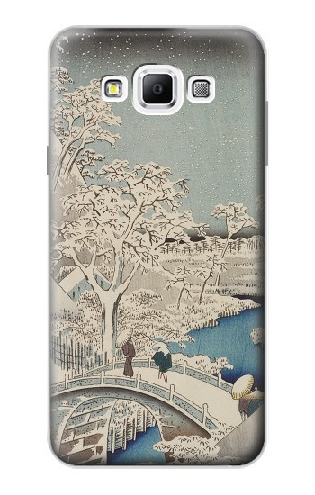 Printed Utagawa Hiroshige The Drum Bridge at Yuhi Hill in Meguro Samsung Galaxy A7, A7 Duos Case