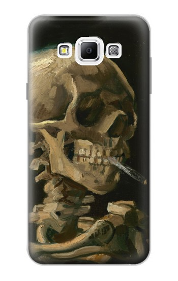 Printed Vincent Van Gogh Head Skeleton Cigarette Samsung Galaxy A7, A7 Duos Case