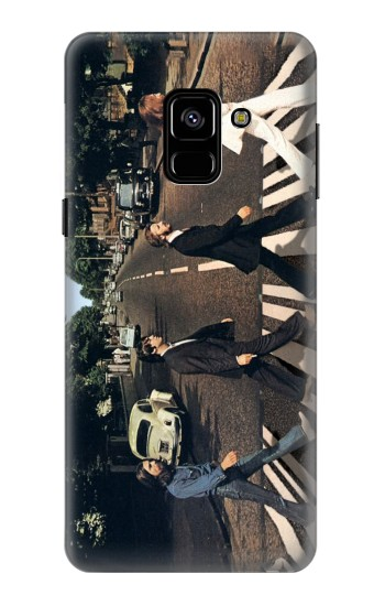 Printed The Beatles Abbey Road Samsung Galaxy A8 (2018) Case