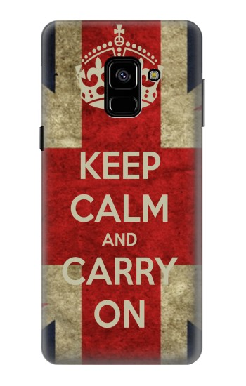 Printed Keep Calm and Carry On Samsung Galaxy A8 (2018) Case