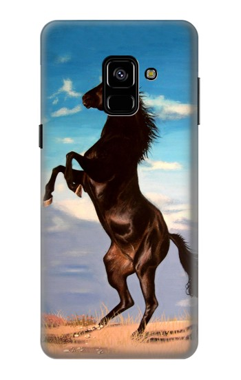 Printed Wild Black Horse Samsung Galaxy A8 (2018) Case