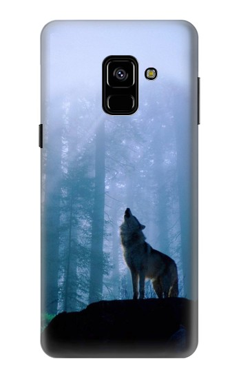Printed Wolf Howling in Forest Samsung Galaxy A8 (2018) Case