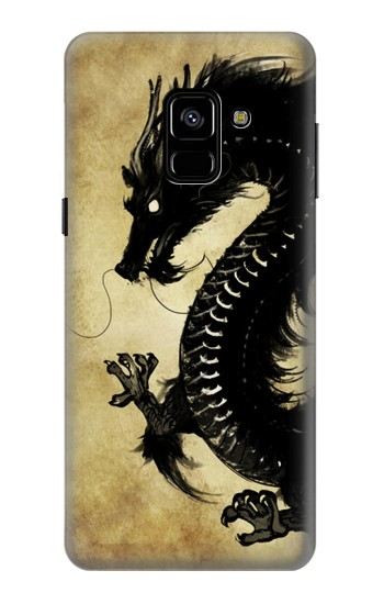 Printed Black Dragon Painting Samsung Galaxy A8 (2018) Case