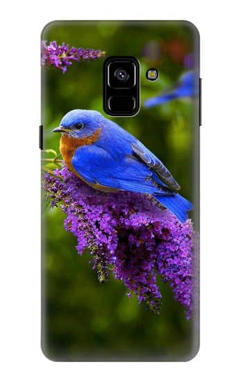 Printed Bluebird of Happiness Blue Bird Samsung Galaxy A8 (2018) Case