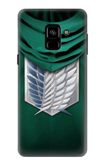 Printed Attack on Titan Scouting Legion Rivaille Green Cloak Samsung Galaxy A8 (2018) Case