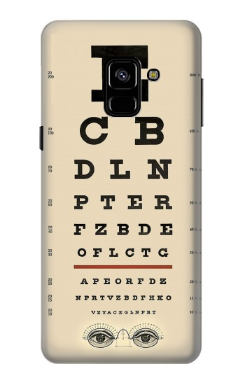 Printed Eye Exam Chart Decorative Decoupage Poster Samsung Galaxy A8 (2018) Case