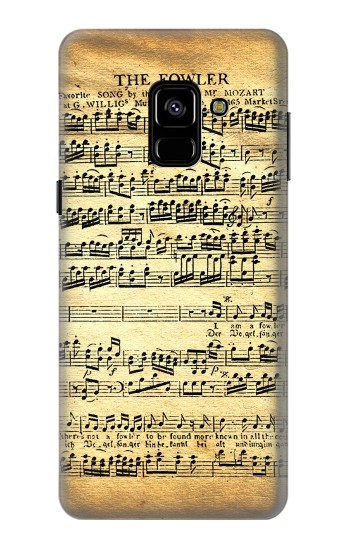 Printed The Fowler Mozart Music Sheet Samsung Galaxy A8 (2018) Case