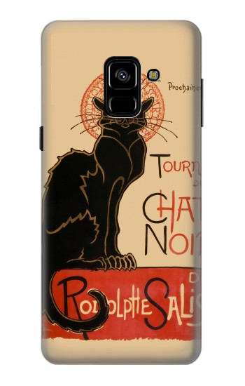 Printed Chat Noir The Black Cat Samsung Galaxy A8 (2018) Case