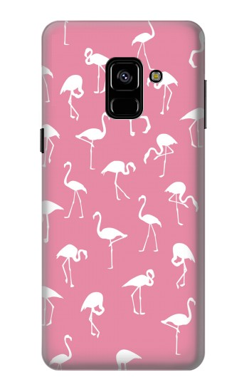 Printed Pink Flamingo Pattern Samsung Galaxy A8 (2018) Case