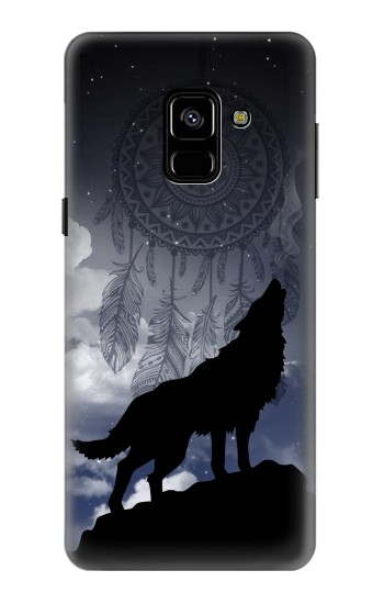 Printed Dream Catcher Wolf Howling Samsung Galaxy A8 (2018) Case