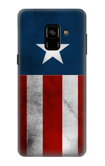 Printed Captain Star Flag of America Samsung Galaxy A8 (2018) Case