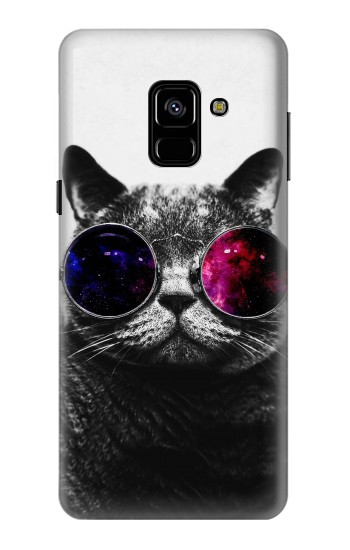Printed Cool Cat Glasses Samsung Galaxy A8 (2018) Case