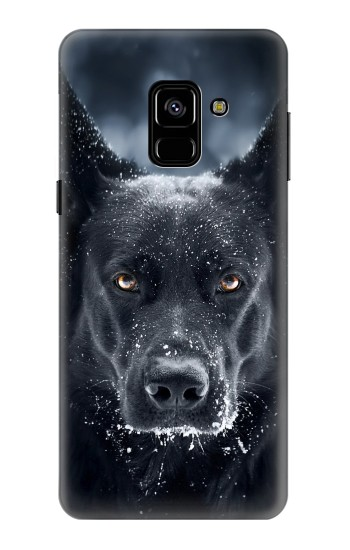 Printed German Shepherd Black Dog Samsung Galaxy A8 (2018) Case